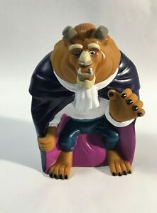Vintage 1992 Pizza Hut Disney Beauty and the Beast Figure Hand Puppet 90's Toys
