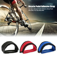 Fixed Gear Cycling MTB Mountain Bike Bicycle Adhesive Pedal Toe Clip Strap Belt