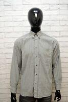 LACOSTE Camicia a Quadri Uomo Taglia 40 L  Maglia Polo Manica Lunga Shirt Men