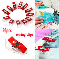 50pcs Plastic Sewing Clips For Fabric Quilting Craft Sewing Knitting Crochet DIY