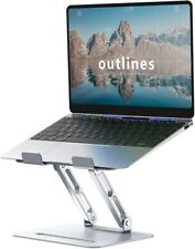 "Adjustable Laptop Stand for 10""-17"" Laptop Riser with Ergonomic Multi-Height Adj"