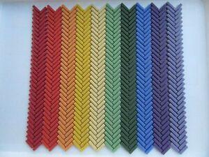 Rainbow Glass Mosaic Tiles -640 pieces Mosaic Art Craft Supplies