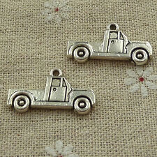 free ship 120 pieces tibetan silver truck charms 26x14mm #3640