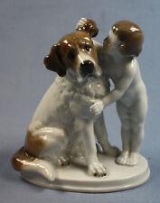 - Saint-Bernard porcelaine personnage chien Rosenthal Fritz Secret 1948 porcelaine personnage