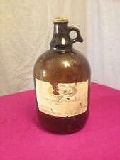 Vintage A&W Root Beer 1 Gallon Jug~Brown Glass Bottle~Metal Lid~Amber