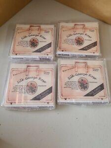 Lot of 4 New Kreinik Silk Gauze Collection Kits Silk Gauze Rose New Unopened