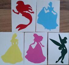 5 x Disney inspired Princess style Vinyl Decal Stickers Wine Glass Laptop Mug