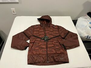 NWT $250.00 Nike Mens Aeroloft Insulated Running Jacket Mystic Dates Red SMALL