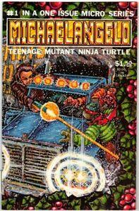 TEENAGE MUTANT NINJA TURTLES 1 MICRO MICHAELANGELO MIRAGE COMIC EASTMAN 1985 VF-