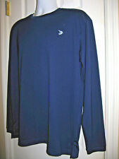 Reel Legends Men's Shirt Size L Poly Long Sleeve Fishing NAVY NWOT