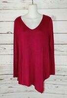 White House Black Market Women's size Small Crimson Shirt
