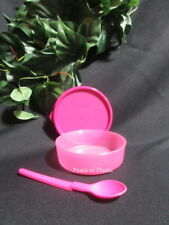 Tupperware New Pink Small Wonder Bowl w/ Seal Baby Hang On Spoon