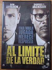 DVD,Al Limite de la Verdad.Ben Affleck,Samuel L.Jackson
