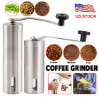 Manual Coffee Grinder Stainless Steel Ceramic Burr Bean Mill Hand Crank Portable