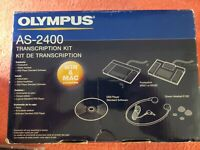 OLYMPUS AS-2400 Transcription Kit USB/Serial WIN and MAC Compatible 147588