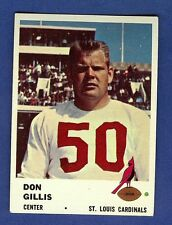 1961 Fleer Football Don Gillis #25 St Louis Cardinals EX-MT