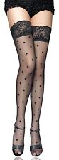 Sexy Stockings Spotted Black in Sheer Net with Spots Very Sexy 6 -16