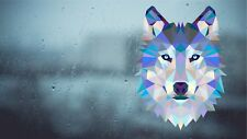Wolf head Sticker Internal Window 20cm x 15cm vw camper window reversed printed