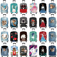 """Elastic Luggage Protective Cover 18 ~ 32"""" Cartoon Suitcase Dustproof Protector"""