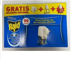 Raid  für ca. 90 Nächte Stecker & 2x 27ml Nachfüller gegen Mücken / Fliegen
