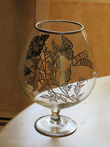 SILVER-25th WEDDING Anniversary-Stemed Glass-Centerpiece-Clear Glass