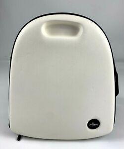 Mima Zigi Travel Diaper Changing Bag Black White Zipped Shoulder Strap