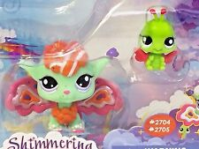 Littlest Pet Shop Shimmering Sky Fairies SunScape #2704 & Ladybug #2705 New LPS
