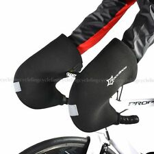 RockBros Fahrradhandschuhe Rennrad Lenker Handschuhe Winter Warm Schwarz