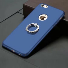 For iPhone 6 6S blue PC Hard Phone Cover Case With Ring Stand Holder KY