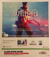 Battlefield 5 Promo Gamestop Poster. Rare.