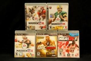 Lot of 5 Playstation 3 PS3 Games Madden 09 10 11 NBA 2K11 UFC 2010