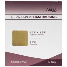 """Silver Foam  4.25"""" X 4.25"""" (No Adhesives) (25 DRESSINGS) Healthcare Package"""