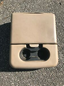 99-10 Ford F250 F350 Center Console Jump Seat Storage Armrest tan Cloth