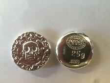 "25 gram Hand Poured 999 Silver Bullion Rd ""Plata Muerta"" (Dead Silver) by YPS"