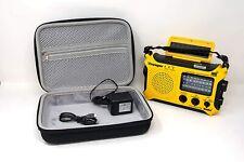Katio KA500 AM FM Shortwave Solar Crank Weather Radio with Case and Adapter