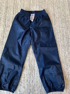 DECATHLON boys Dark blue waterproof trousers AGE 5 YEARS EXCELLENT COND