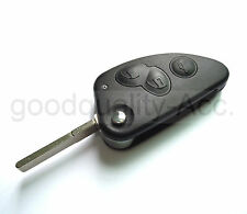 REPLACEMENT 3 BUTTON FLIP KEY CASE FOR ALFA ROMEO 147 156 166 GT REMOTE FOB