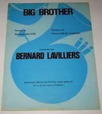 Partition vintage sheet music BERNARD LAVILLIERS : Big Brother * 1977