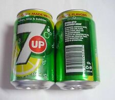 7UP Soda can SINGAPORE 330ml  2013 Green SG Pepsi 7 Up Asia Collect