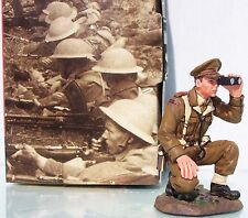 KING & COUNTRY FIELDS OF BATTLE FOB024 KNEELING BRITISH OFFICER WITH BINOS MIB