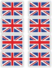 8x UK Union Jack England Flagge Aufkleber 4x6cm Sticker Helm Motorrad Laptop
