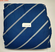 Lacoste Comforter Navy Diagonal FULL / QUEEN 3 PCS SET Blue / White