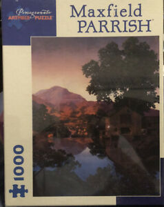 """New 1000 piece puzzle """"The Mill Pond, 1945"""" Maxfield Parrish 20x25in"""