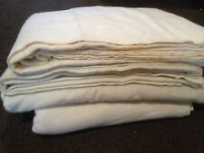 British Army Wool White Military Blanket USED 2.2 x 1.7m Historical Reenactment
