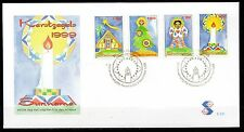 Suriname - 1999 Christmas - Mi. 1711-14 clean unaddressed FDC
