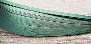 100 pearlescent/metallic quilling paper strips - dark green 3mm,5mm,10mm wide