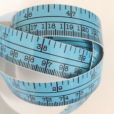 "60"" Blue Self Adhesive Vinyl Measuring Tape / Ruler Sticker Stickymeasure"