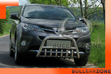 TOYOTA RAV4 IV 2013-2015 TUBO PROTEZIONE MEDIUM BULL BAR INOX STAINLESS STEEL
