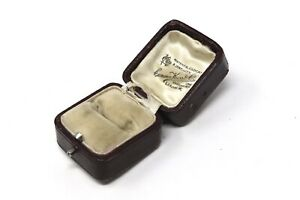 A Lovely Superb Antique Victorian Edwardian Leather Ring Jewellery Box #28831
