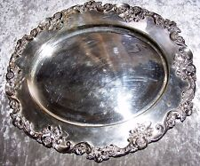 VINTAGE DANIEL & ARTER ENGLISH SILVER PLATE ORNATE TRAY PLATTER